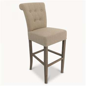 St James Beige Padded Bar Stool (112 x 58cm)