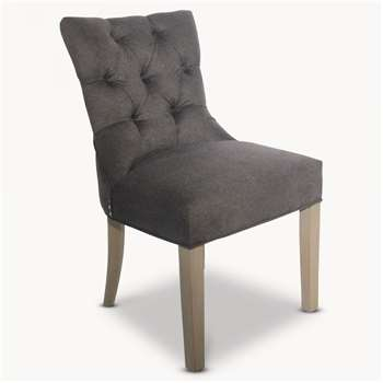 St James Charcoal Grey Padded Dining Chair (89 x 63.5cm)