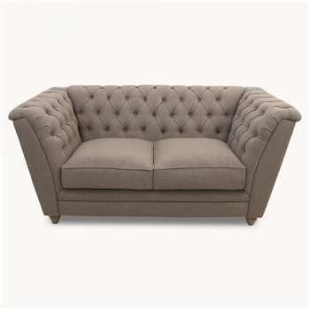 St James Grey 2 Seater Button Back Sofa (H80 x W172 x D88cm)