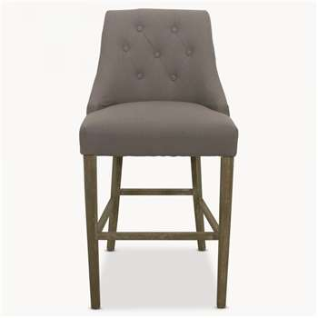 St James Grey Padded Bar Stool