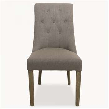 St James Grey Padded Dining Chair (100 x 51cm)