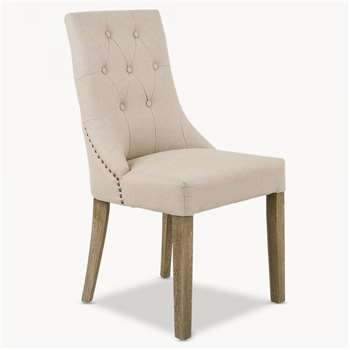 St James Padded Natural Dining Chair (99 x 50cm)