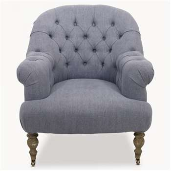 St James Upholstered Blue Occasional Chair