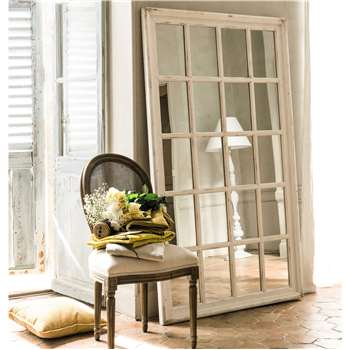 ST MARTIN wooden window mirror in white H 175cm
