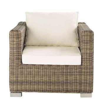 ST RAPHAËL Wicker garden armchair (69 x 86cm)