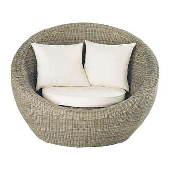 ST RAPHAËL Wicker garden armchair (86 x 120cm)
