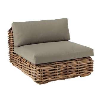 ST TROPEZ Rattan low sofa (75 x 90cm)