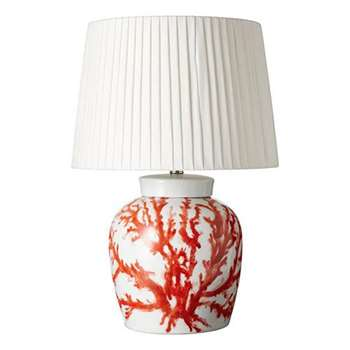 Staghorn Coral Lamp - Red/White (29 x 27cm)