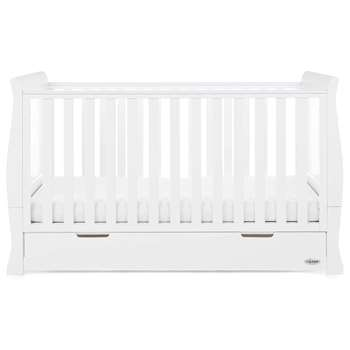 Stamford Cot Bed in White By Obaby (91 x 154cm)