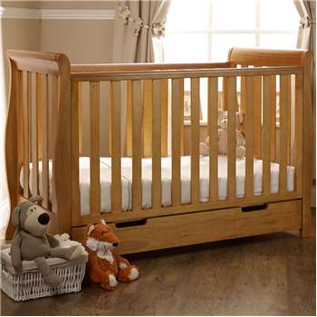 Stamford Mini Cot Bed in Country Pine By Obaby (99 x 134cm)