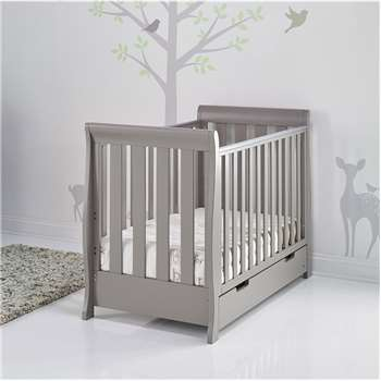 Stamford Mini Cot Bed in Taupe Grey By Obaby (90 x 134cm)