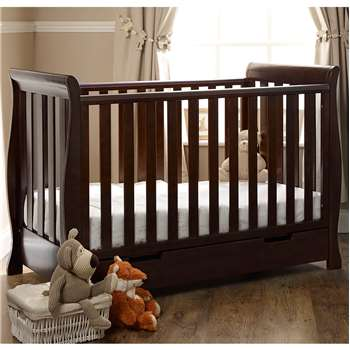 Stamford Mini Cot Bed in Walnut By Obaby (99 x 134cm)
