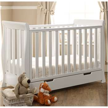 Stamford Mini Cot Bed in White By Obaby (90 x 66cm)