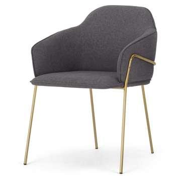 Stanley Frame Carver Dining chair, Nimbus Grey (H81 x W59 x D58cm)