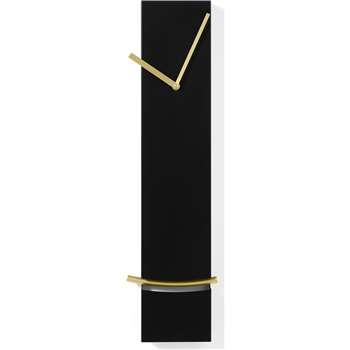 Stanton Slim Rectangle Pendulum Bob Clock, Brushed Brass (H60 x W16 x D5.5cm)