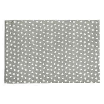 STAR cotton rug in grey (120 x 180cm)