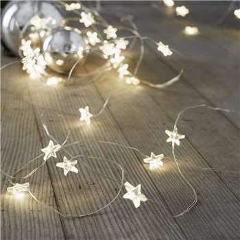 Star Fairy Lights - 40 Bulbs (Length 170cm)