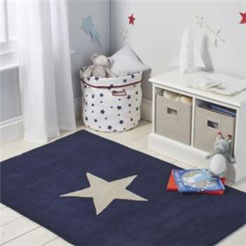 Star Tufted Rug - Navy (100 x 150cm)