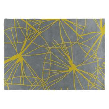 Starfloral Large yellow and grey rug 170 x 240cm