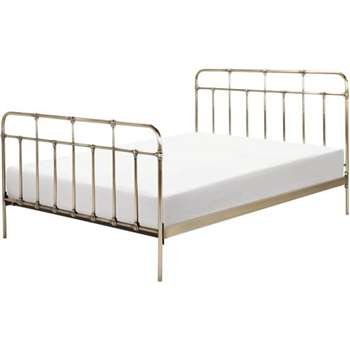 Starke Kingsize Bed, Brass (110 x 159cm)