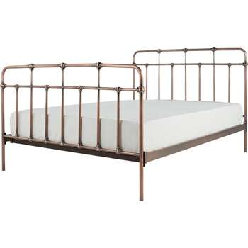 Starke Kingsize Bed, Copper (H110 x W159 x D210cm)