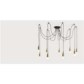 Starkey Chandelier, Brass (100-150 x 100-300cm)