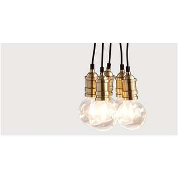 Starkey Cluster Pendant Light, Brass (115 x 12cm)