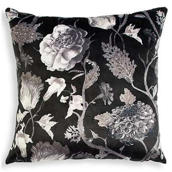 Statement Floral Square Cushion, Grey Mix (H50 x W50cm)