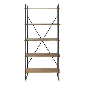 STATEN Metal shelf unit in charcoal grey W 85cm
