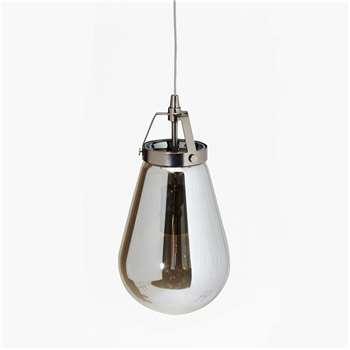 Steel Grey Ceiling Lamp (110 x 17cm)