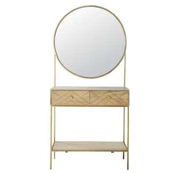 STELLA Solid Mango Wood Mirror Entryway Unit (190 x 90cm)