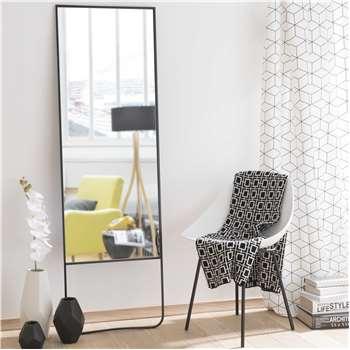 STENFORD metal mirror in black H 160cm