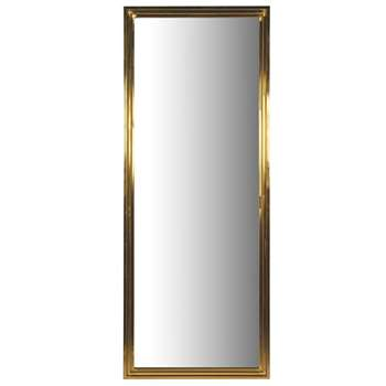 Stepped Gold Mirror (H220 x W86 x D6cm)