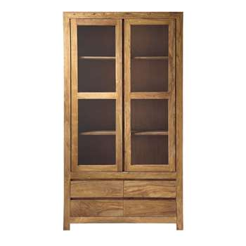 STOCKHOLM Solid sheesham wood bookcase (200 x 110cm)