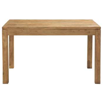 STOCKHOLM Solid sheesham wood dining table W 130cm