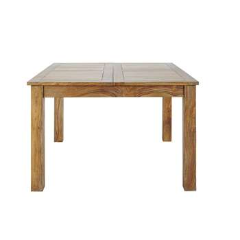 STOCKHOLM Solid sheesham wood extending dining table (78 x 130-190cm)