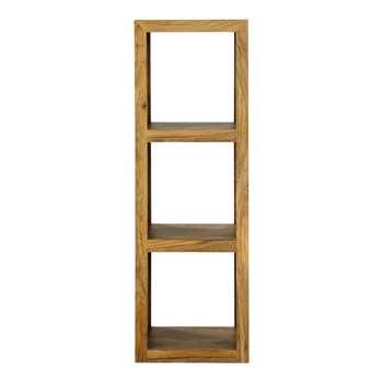 STOCKHOLM Solid sheesham wood shelf tower unit H 104cm