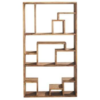 STOCKHOLM Solid sheesham wood shelf unit W 110cm