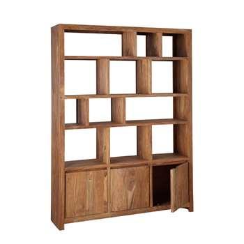 STOCKHOLM Solid sheesham wood shelf unit W 150cm