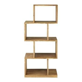 STOCKHOLM Solid sheesham wood shelf unit W 55cm