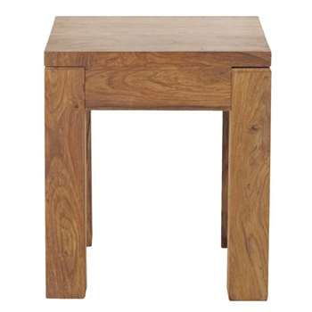 STOCKHOLM Solid sheesham wood side table (45 x 40cm)