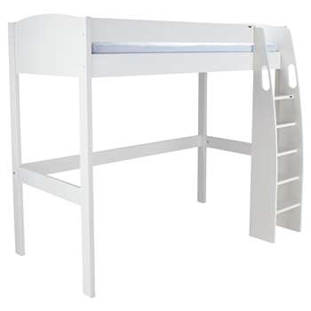 Stompa Uno S Plus High-Sleeper Bed Frame - White (Width 121.2cm)