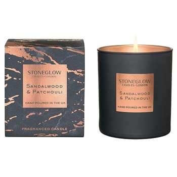 Stoneglow - Luna Tumbler Candle - Sandalwood & Patchouli (H9.5 x W8.5 x D8.5cm)