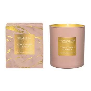 Stoneglow - Luna Tumbler Candle - Ylang Ylang & Amber (H9.5 x W8.5 x D8.5cm)