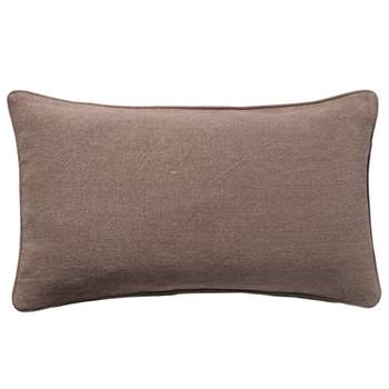 Stonewashed Linen Cushion Cover, Small - Cacao (35 x 60cm)