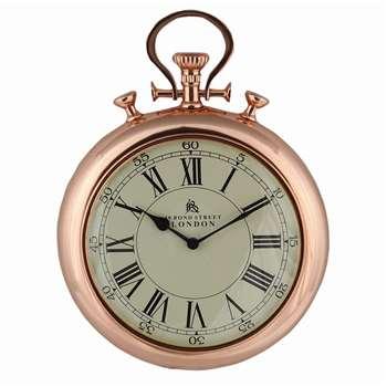 Stopwatch Clock Copper (H43 x W32 x D7cm)