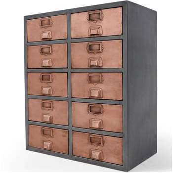 Stow Large Storage Unit, Copper (83 x 70cm)
