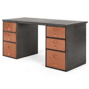Stow Storage Desk, Copper (H75 x W160 x D60cm)