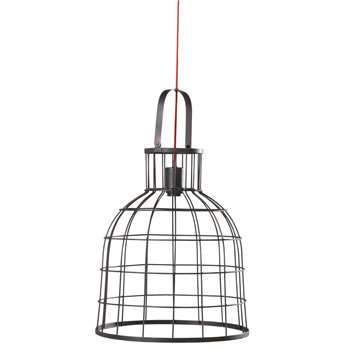 STRATFORD Red Cable and Black Metal Pendant (H48 x W41.5 x D41.5cm)