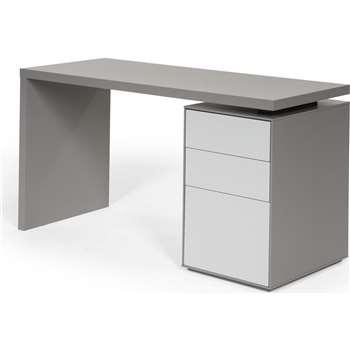 Stretto Desk, Tonal Grey (75 x 140cm)